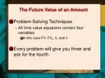 the future value of an amount2