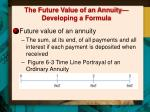 the future value of an annuity developing a formula