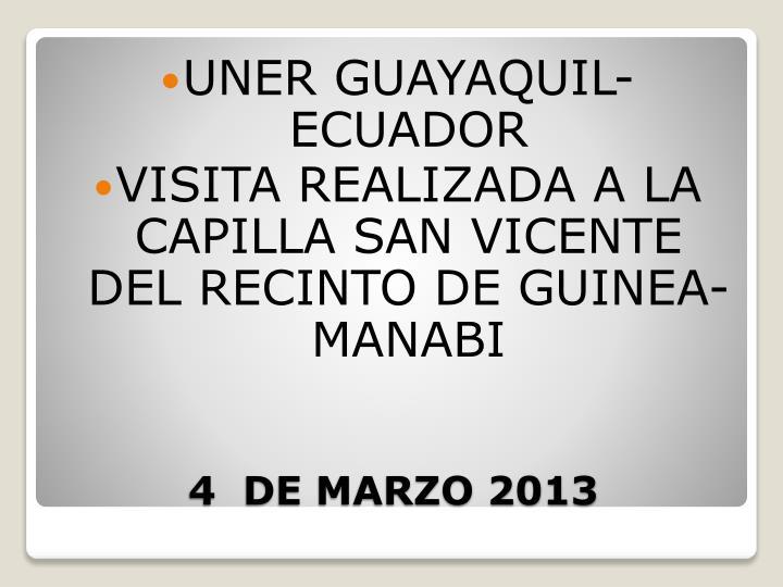 UNER GUAYAQUIL-ECUADOR