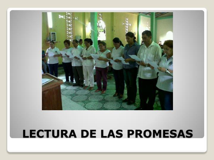 LECTURA DE LAS PROMESAS
