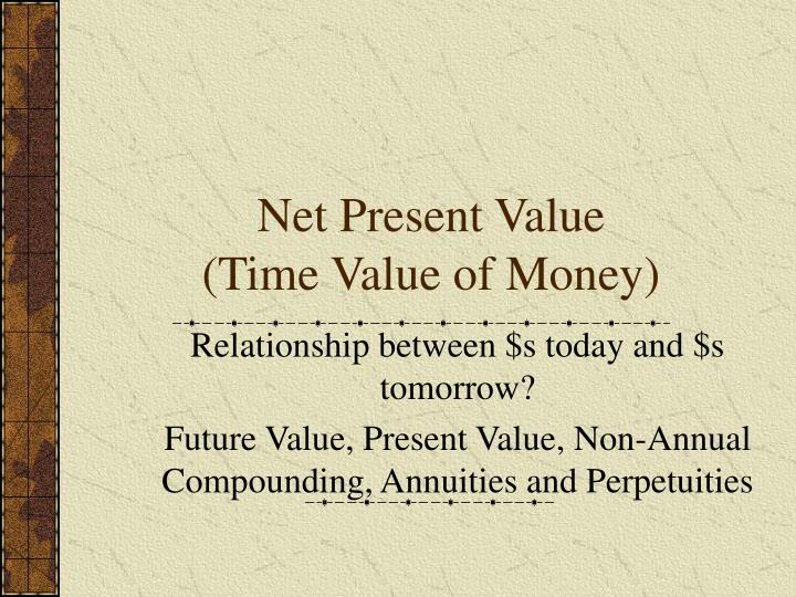 Net present value time value of money