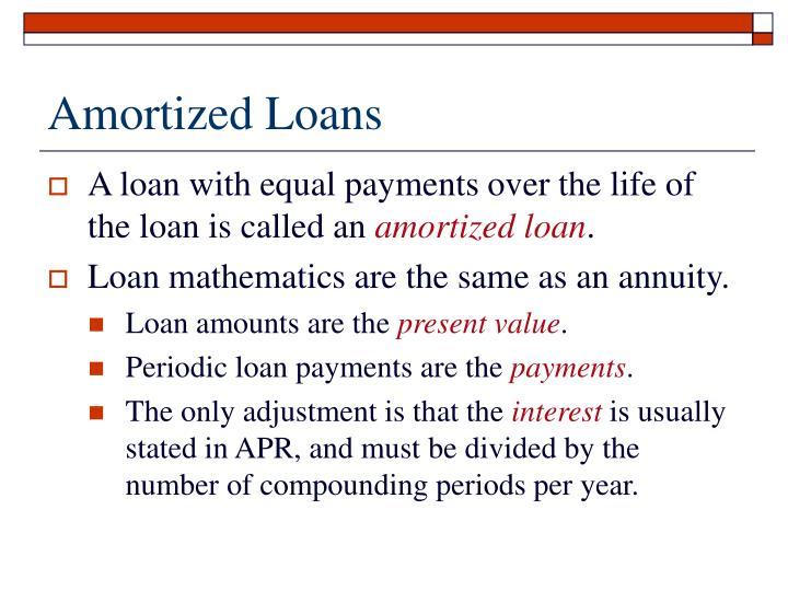 Amortized Loans