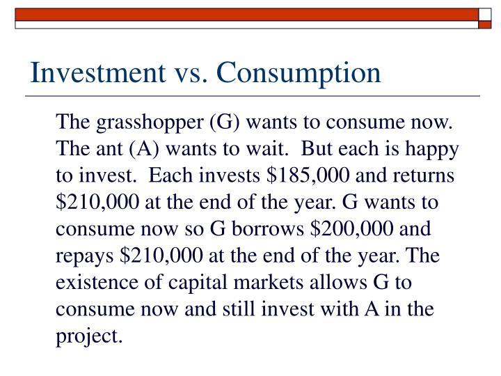 Investment vs. Consumption