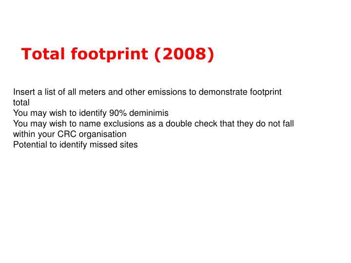 Total footprint (2008)