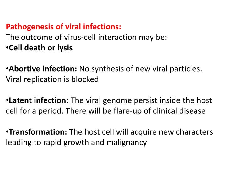 Pathogenesis of viral infections: