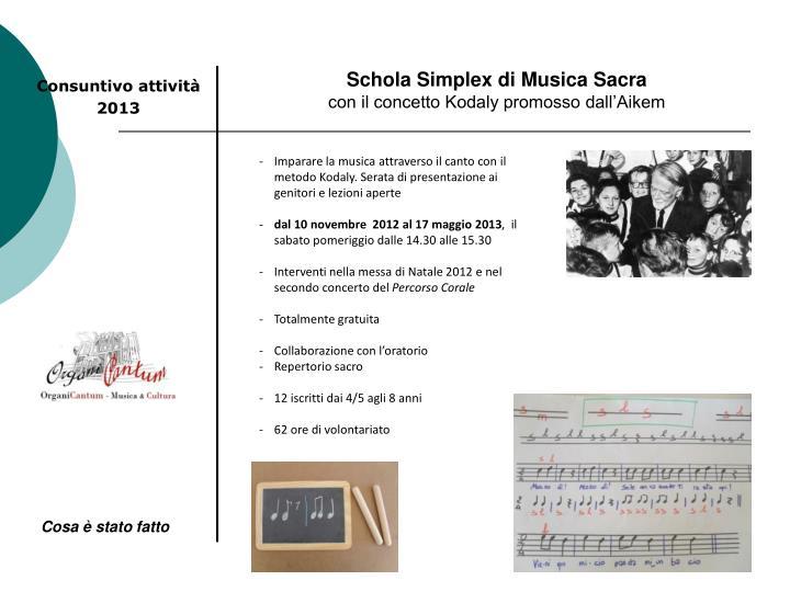 Schola Simplex di Musica Sacra
