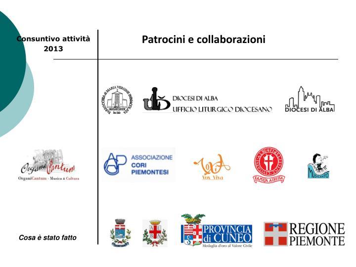 Patrocini e collaborazioni