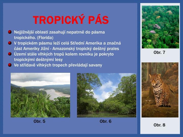 Nejjižnější oblasti zasahují nepatrně do pásma tropického
