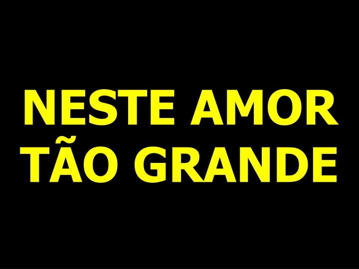 NESTE AMOR TÃO GRANDE