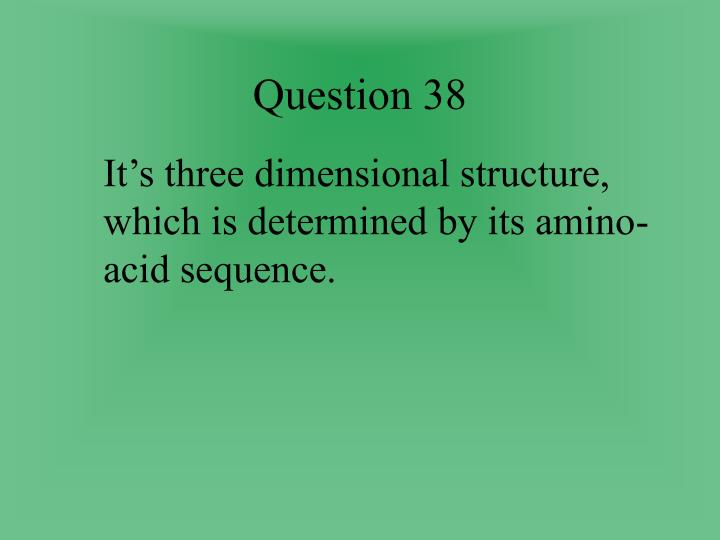 Question 38
