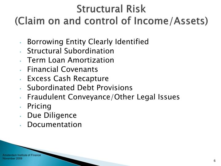 Structural Risk