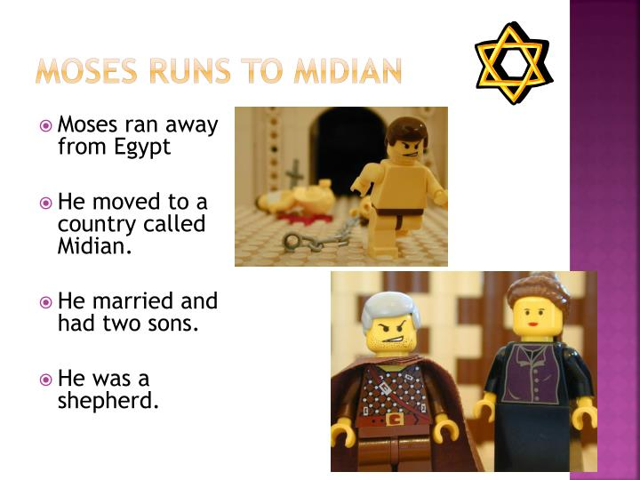 Moses runs to Midian