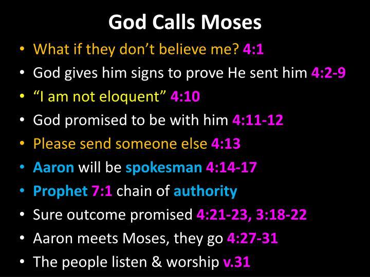 God Calls Moses