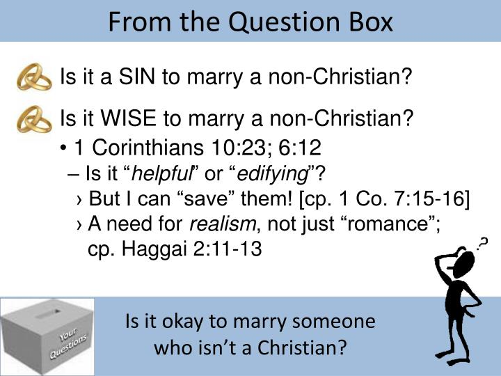 From the Question Box