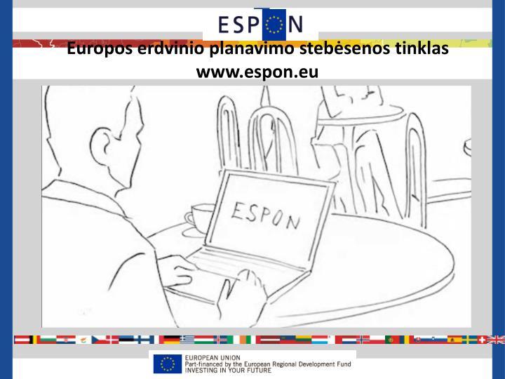Europos erdvinio planavimo stebėsenos tinklas
