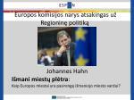 europos komisijos narys atsakingas u regionin politik