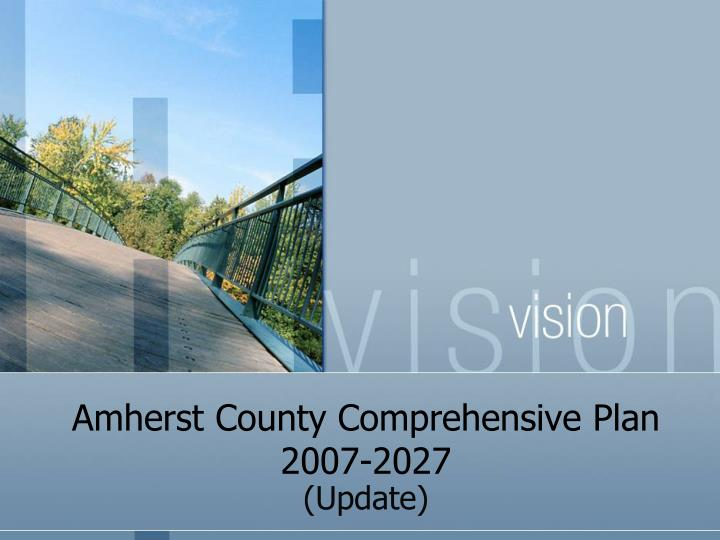 Amherst county comprehensive plan 2007 2027
