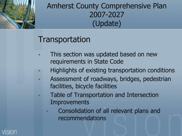 Amherst County Comprehensive Plan 2007-2027