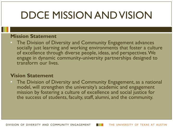 Ddce mission and vision
