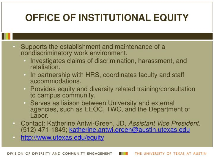 Office of Institutional Equity