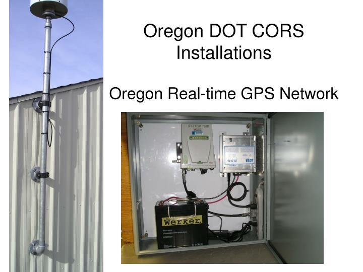Oregon dot cors installations
