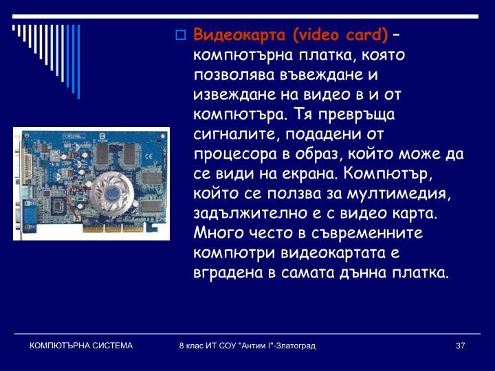 Видеокарта (video card)