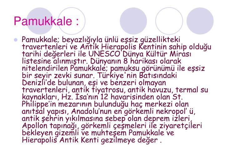Pamukkale :