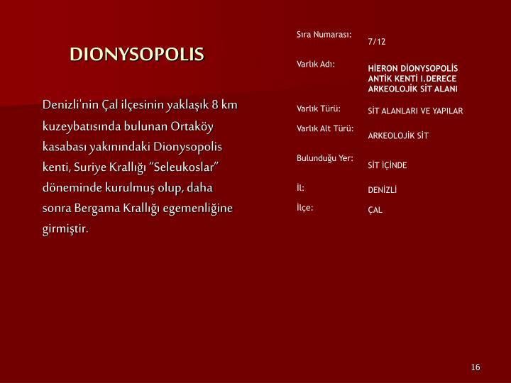 DIONYSOPOLIS
