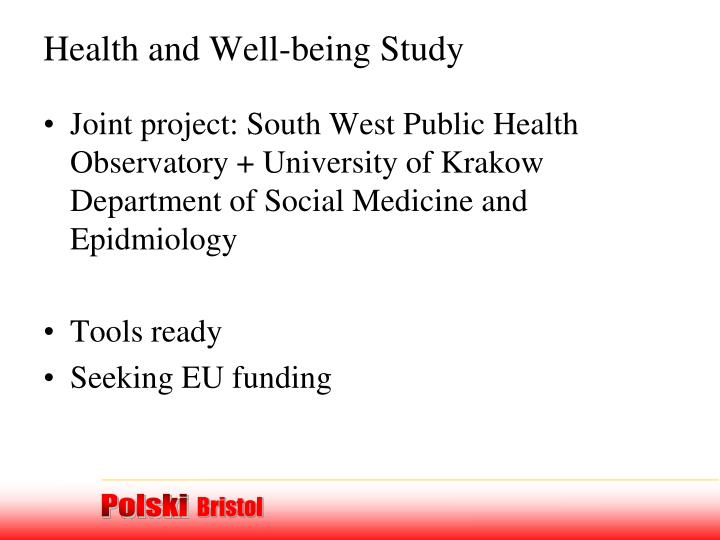 Health and Well-being Study