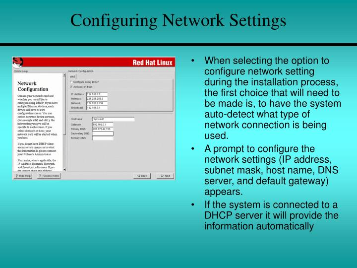Configuring Network Settings