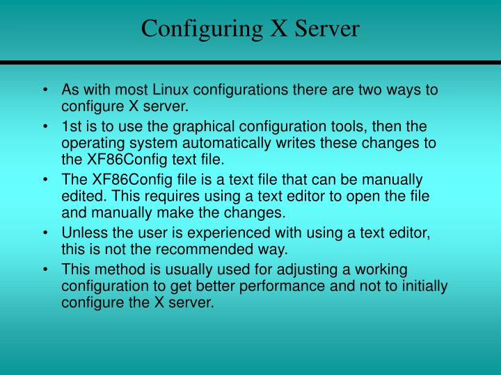 Configuring X Server