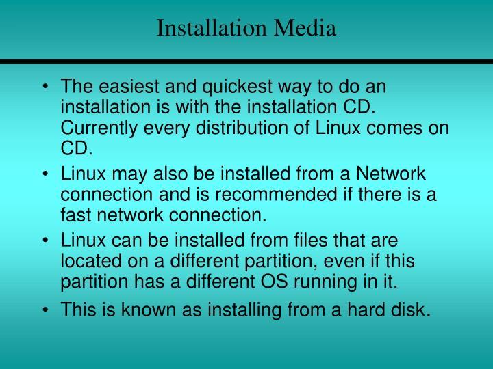 Installation Media