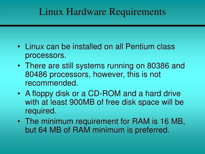 Linux Hardware Requirements