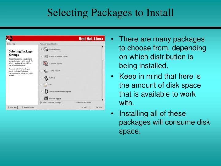 Selecting Packages to Install