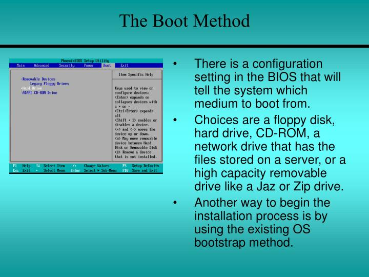 The boot method