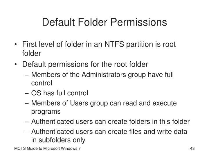 Default Folder Permissions