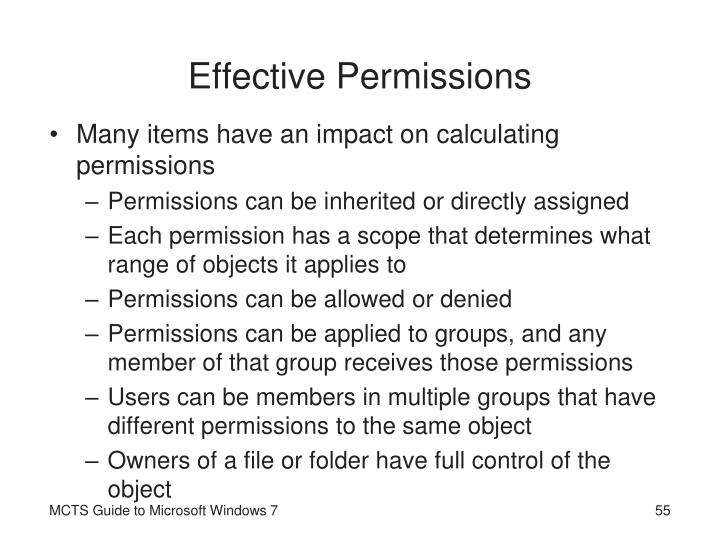 Effective Permissions