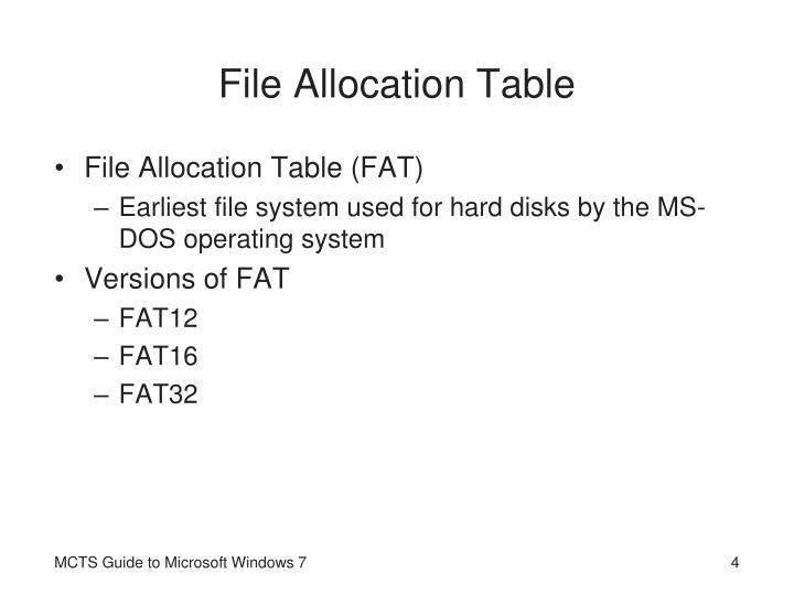 File Allocation Table