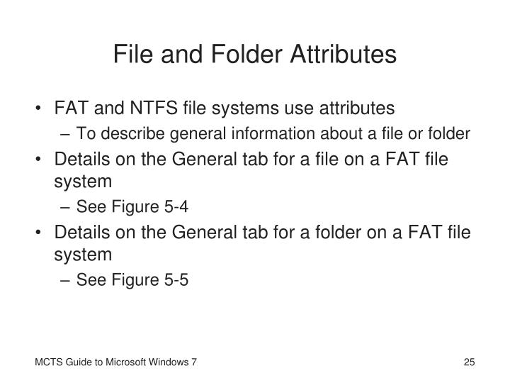 File and Folder Attributes