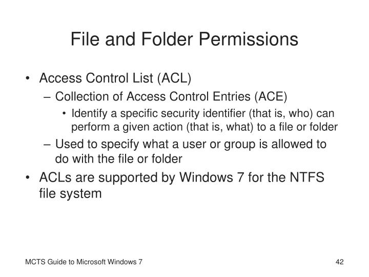 File and Folder Permissions