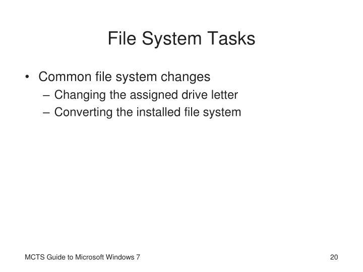 File System Tasks