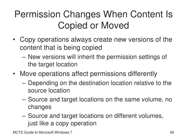 Permission Changes When Content Is Copied or Moved