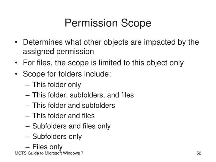 Permission Scope