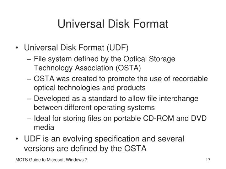 Universal Disk Format