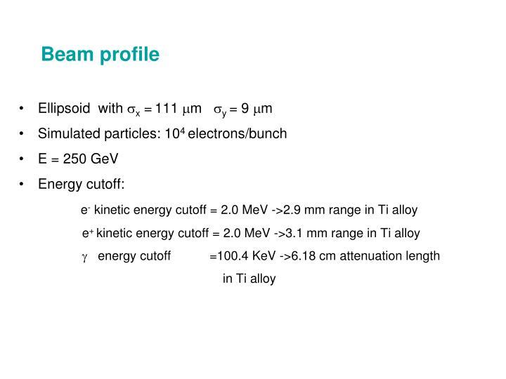Beam profile