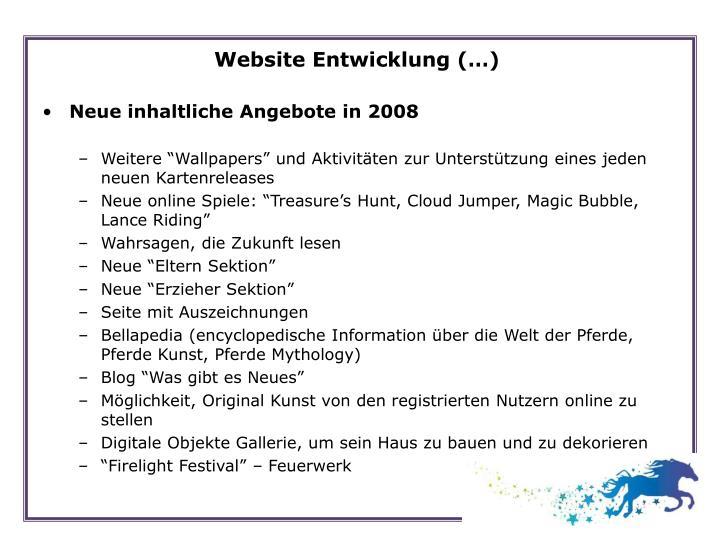 Website Entwicklung (…)