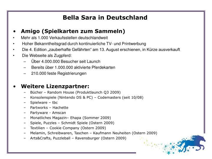 Bella Sara in Deutschland