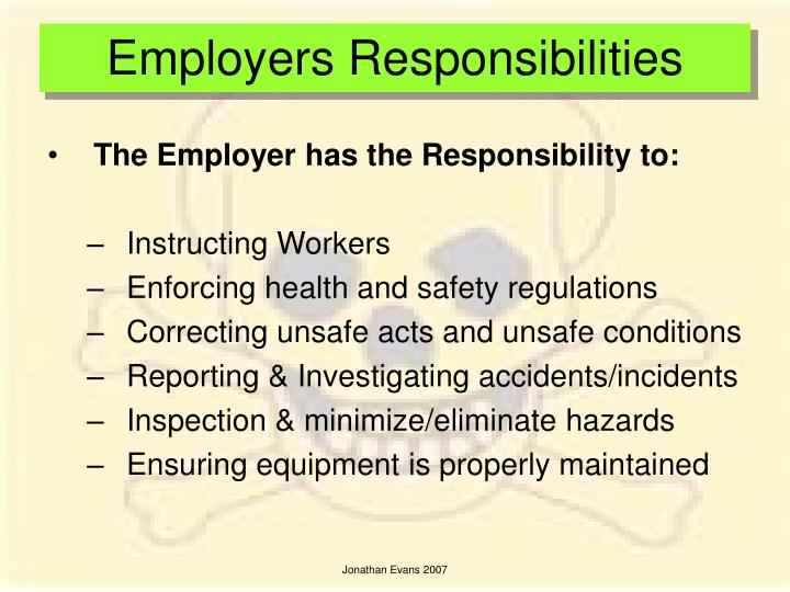 Employers Responsibilities