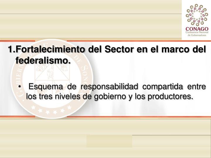Fortalecimiento del Sector en el marco del federalismo.