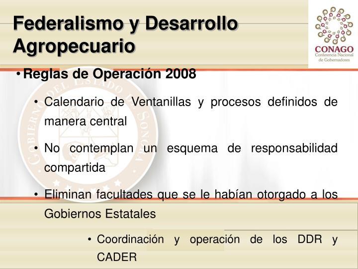 Federalismo y Desarrollo Agropecuario